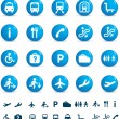Travel icon set of buttons — Stock Photo #2373473