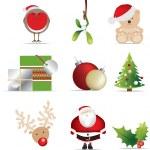 Christmas icon set — Stock Photo