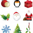 Christmas icon set — Stock Photo
