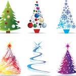 Christmas tree modern illustrations — Stock Photo