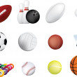Sports ball icon set — Stock Photo