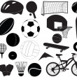Detailed sports montage - Stock Photo