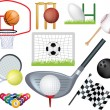 Detailed sports montage — Stock Photo
