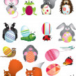 Stock Photo: EASTER EGG WILDLIFE ANIMAL CARTOONS