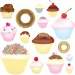 Cupcake selection — Stock Photo