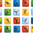 Sport icon set - Stock Photo