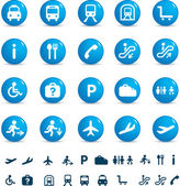 Travel icon set of buttons — Stock Photo