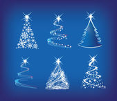 Christmas tree modern illustration set o — Stock Photo