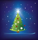 圣诞节树现代图 — 图库照片