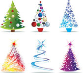Christmas tree modern illustrations — Stock Photo