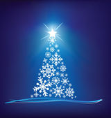 Christmas tree modern illustration — Stock Photo