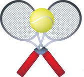 Teenis raquetes — Fotografia Stock