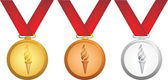 Olympic medals — Stock Photo