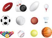 Sports ball icon set — Stock Photo