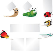 Insects with signs — Stock Photo