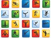 Sport icon set — Stock Photo