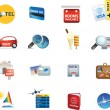 Holiday travel and vacation icons - Stock Photo