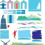 Beach icon collection set — Stock Photo #2382677