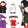 Stock Photo: Selection of halloween characters