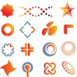 Logo marks and symbols — Stock Photo