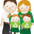 Stock Photo: Recycle eco friendly family