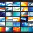 Stockfoto: Corporate business card set 2