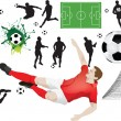 Set of soccer elements — Stock Photo