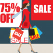January sale shopper - Stock Photo