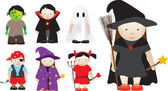 Selection of halloween characters — Stock Photo