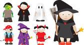 Selection of halloween characters — Stock Photo