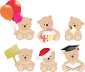 Teddy bear set — Stock Photo