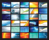 Business card template set — Stock Photo