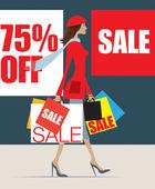 January sale shopper — Stock Photo