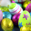 Stock Photo: Easter eggs macro shot
