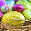 Easter eggs in nest — Stock Photo #2489100