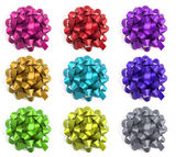 Selection of colourful bows — Stock Photo