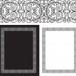 Stock Vector: Black intricate and ornate border