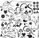 Floral and swirls — Stockvector