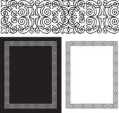 Black intricate and ornate border — Stock Vector
