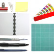 Graphic designer office collection — Stock Photo