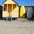 Yellow beach hut — Stock Photo