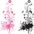 Vector de stock : Floral and swirls
