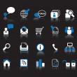 Web icon set — Vector de stock