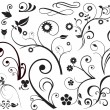Floral and swirls — Vettoriali Stock