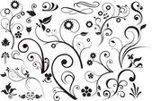 цветочные и сучки — Cтоковый вектор