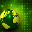 3d green globe on abstract background — Stock Photo #1987197