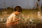 Young child in nature — Stockfoto