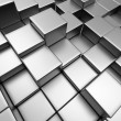 Abstract urban background of 3d blocks - Stockfoto