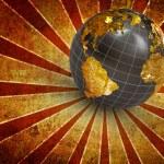 3d earth on futuristic background — Stock Photo #2000691