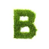 Grass letter - B - Upper case — Stock Photo